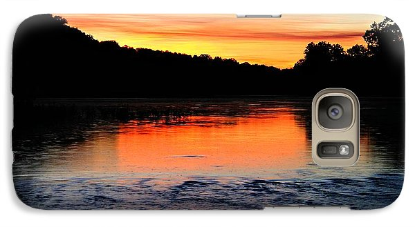 Galaxy Case featuring the photograph River Sunset by Candice Trimble