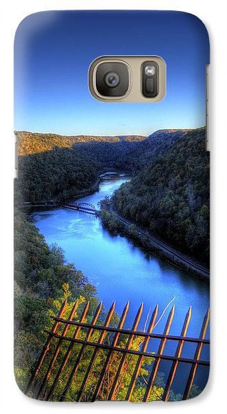 Galaxy S7 Case featuring the photograph River Through A Valley by Jonny D