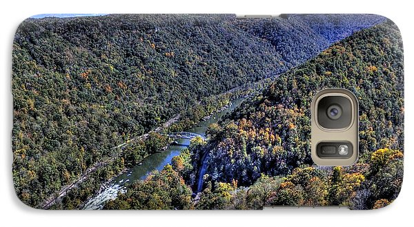 Galaxy S7 Case featuring the photograph River Through The Hills by Jonny D