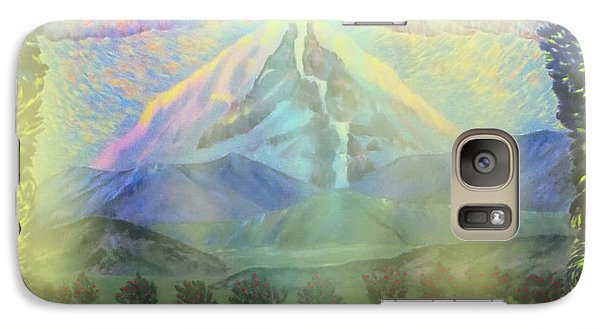 Galaxy Case featuring the painting River Vision I by Anastasia Savage Ealy