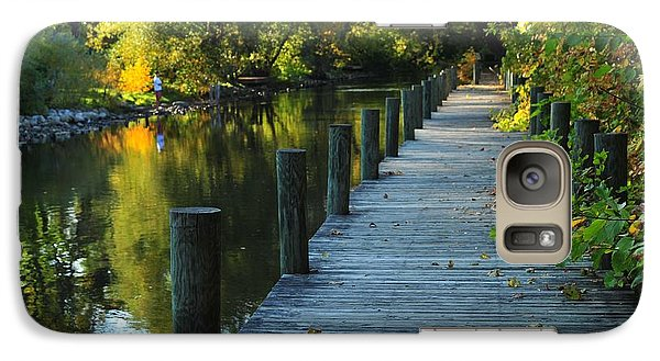 Galaxy Case featuring the photograph River Walk In Traverse City Michigan by Terri Gostola