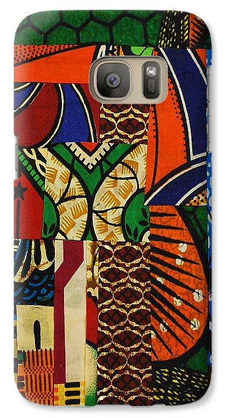 Galaxy Case featuring the tapestry - textile Riverbank by Apanaki Temitayo M