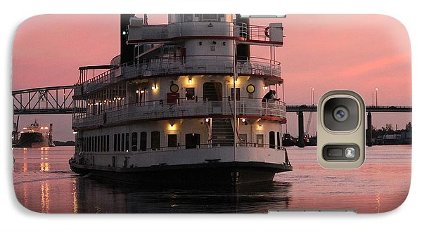 Galaxy Case featuring the photograph Riverboat At Sunset by Cynthia Guinn