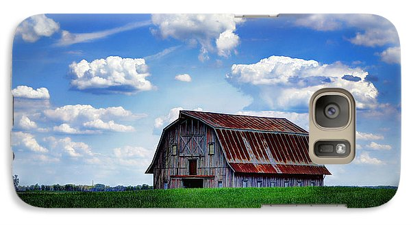 Cricket Galaxy S7 Case - Riverbottom Barn Against The Sky by Cricket Hackmann