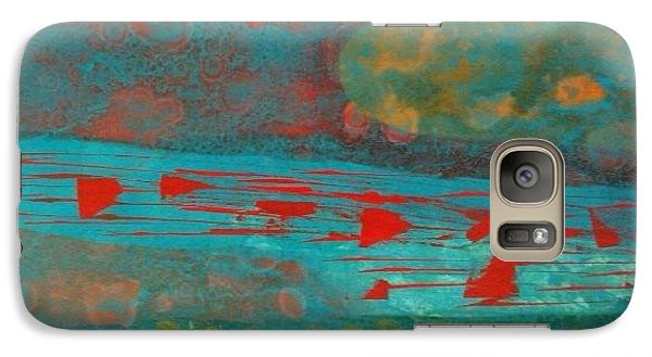 Galaxy Case featuring the painting Rivers And Prayers by Theresa Kennedy DuPay