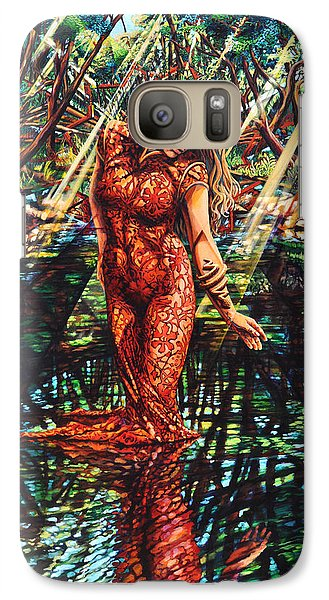 Galaxy Case featuring the painting River's Edge by Greg Skrtic