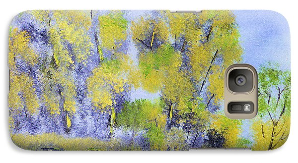 Galaxy Case featuring the painting River's Edge by Michael Daniels
