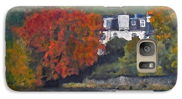 Galaxy Case featuring the painting Riverside House And The Cauld Water Peebles by Richard James Digance