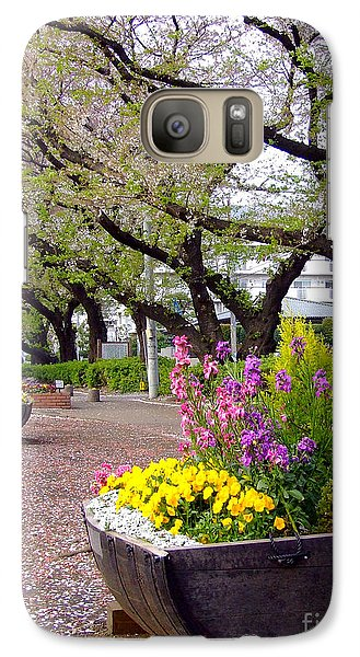 Galaxy Case featuring the photograph Road Of Flowers by Andrea Anderegg