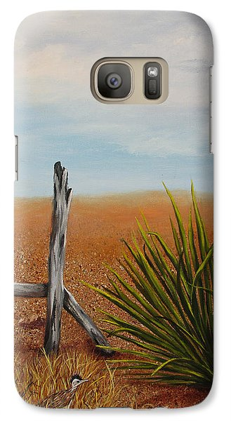 Galaxy Case featuring the painting Road Runner by Roseann Gilmore