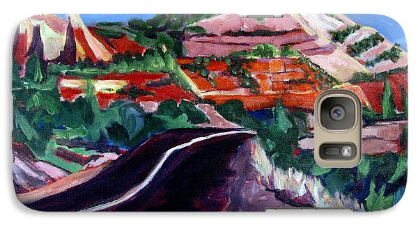 Galaxy Case featuring the painting Road To Zion National Park by Betty Pieper