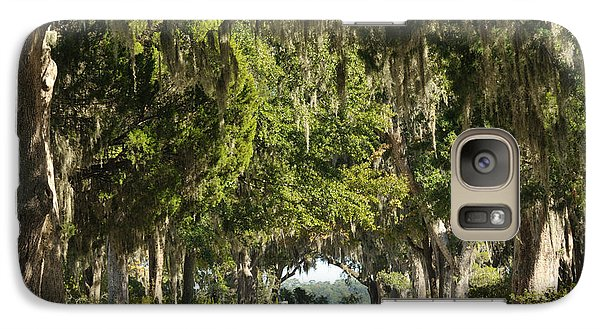 Galaxy Case featuring the photograph Road With Live Oaks by Bradford Martin
