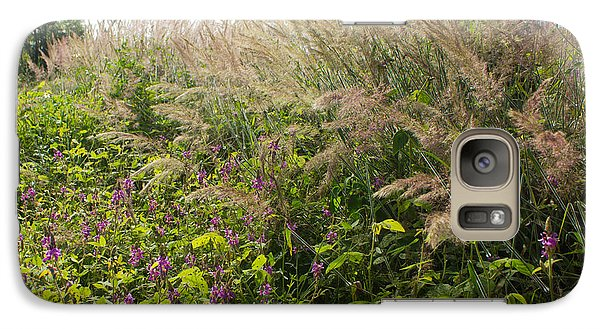 Galaxy Case featuring the photograph Roadside Blooms by Jose Oquendo
