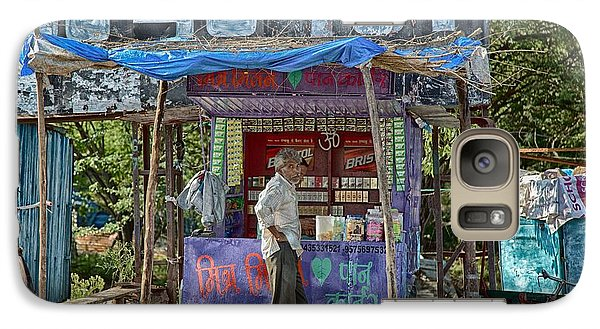 Galaxy Case featuring the digital art Roadside Tobacco Parlor by John Hoey