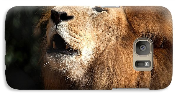 Galaxy Case featuring the photograph Roar - African Lion by Meg Rousher