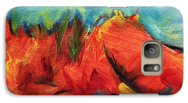Galaxy Case featuring the painting Roasted Rock Coast by Elizabeth Fontaine-Barr