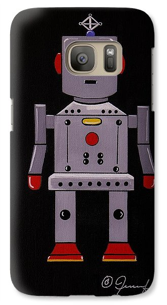 Galaxy Case featuring the painting Robby The Robot by Jennifer Lake