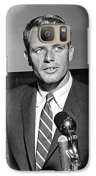 Galaxy Case featuring the photograph Robert Kennedy 1961 by Martin Konopacki Restoration