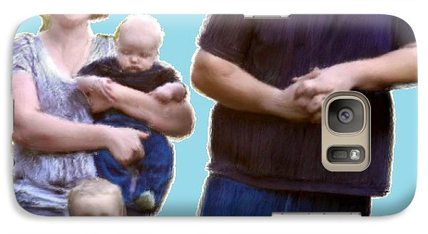 Galaxy Case featuring the painting Robert Nutting Family by Bruce Nutting