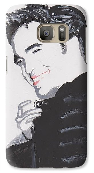 Galaxy Case featuring the painting Robert Pattinso 140 A by Audrey Pollitt