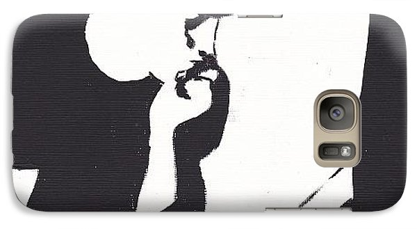 Galaxy Case featuring the painting Robert Pattinson 116a by Audrey Pollitt