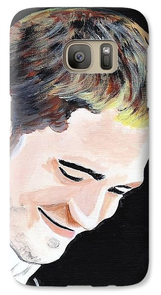 Galaxy Case featuring the painting Robert Pattinson 121 by Audrey Pollitt