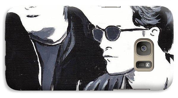 Galaxy Case featuring the painting Robert Pattinson 122 by Audrey Pollitt