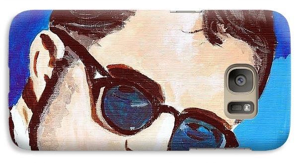 Galaxy Case featuring the painting Robert Pattinson 123a by Audrey Pollitt