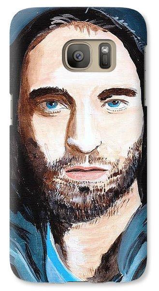Galaxy Case featuring the painting Robert Pattinson 128a by Audrey Pollitt