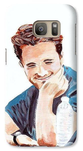 Galaxy Case featuring the painting Robert Pattinson 130 by Audrey Pollitt