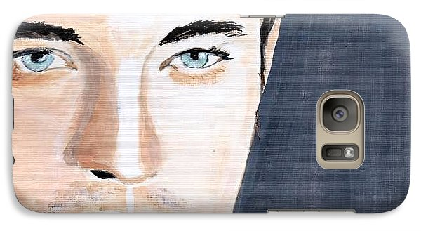 Galaxy Case featuring the painting Robert Pattinson 131a by Audrey Pollitt