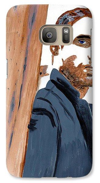 Galaxy Case featuring the painting Robert Pattinson 135 by Audrey Pollitt