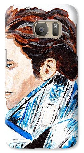 Galaxy Case featuring the painting Robert Pattinson 136 by Audrey Pollitt