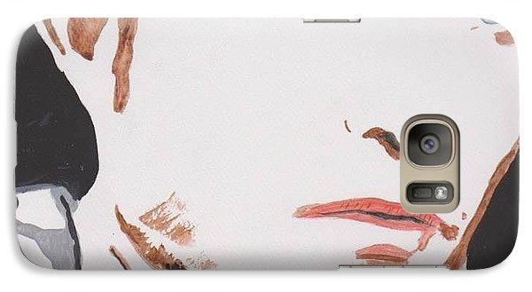 Galaxy Case featuring the painting Robert Pattinson 137 A by Audrey Pollitt