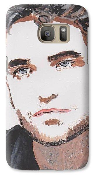 Galaxy Case featuring the painting Robert Pattinson 138 A by Audrey Pollitt