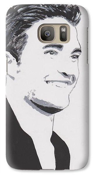 Galaxy Case featuring the painting Robert Pattinson 139 A by Audrey Pollitt