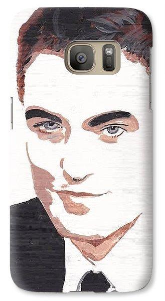 Galaxy Case featuring the painting Robert Pattinson 141 by Audrey Pollitt