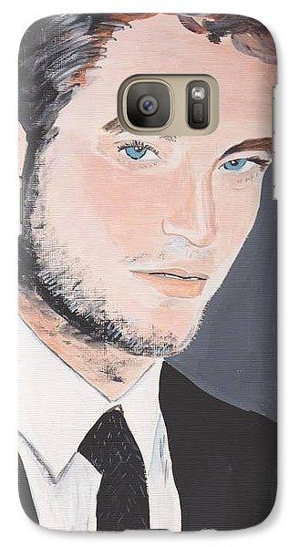 Galaxy Case featuring the painting Robert Pattinson 141a by Audrey Pollitt
