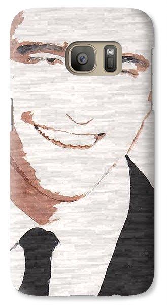Galaxy Case featuring the painting Robert Pattinson 142 A by Audrey Pollitt
