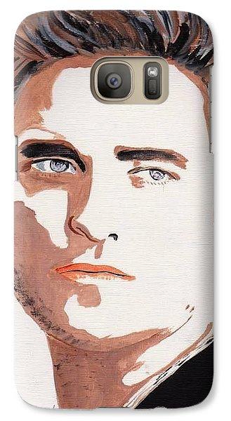 Galaxy Case featuring the painting Robert Pattinson 144 by Audrey Pollitt