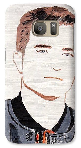 Galaxy Case featuring the painting Robert  Pattinson 145 by Audrey Pollitt