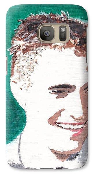 Galaxy Case featuring the painting Robert Pattinson 146 A by Audrey Pollitt