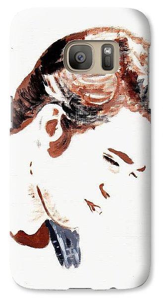 Galaxy Case featuring the painting Robert Pattinson 146 by Audrey Pollitt