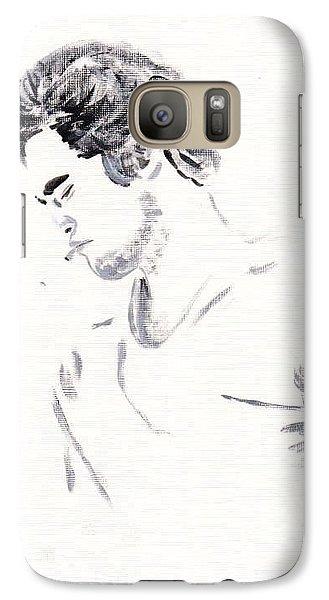 Galaxy Case featuring the painting Robert Pattinson 147 by Audrey Pollitt