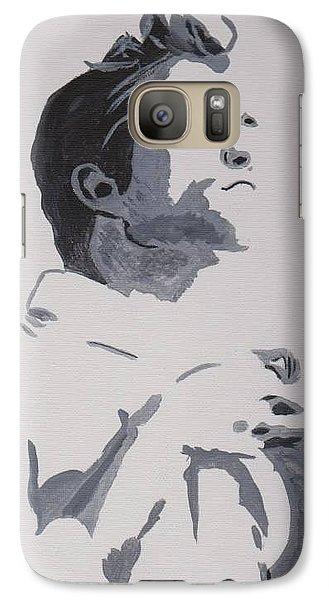 Galaxy Case featuring the painting Robert Pattinson 148 by Audrey Pollitt