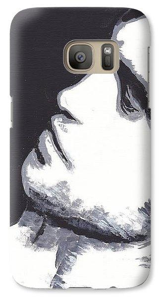 Galaxy Case featuring the painting Robert Pattinson 4 Jen by Audrey Pollitt