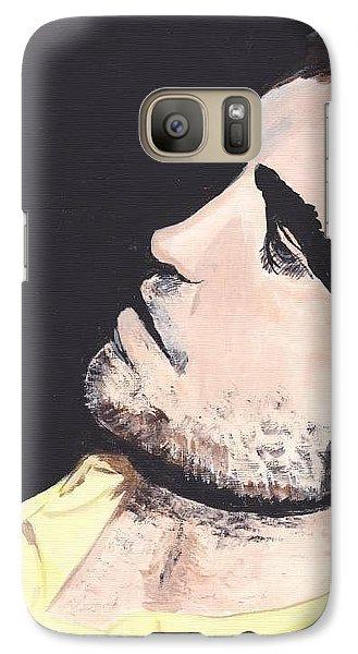 Galaxy Case featuring the painting Robert Pattinson 4 Jen2 by Audrey Pollitt