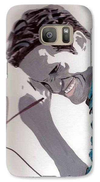 Galaxy Case featuring the painting Robert Pattinson 48a by Audrey Pollitt