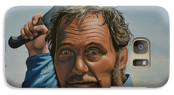 Realistic Galaxy S7 Case - Robert Shaw In Jaws by Paul Meijering