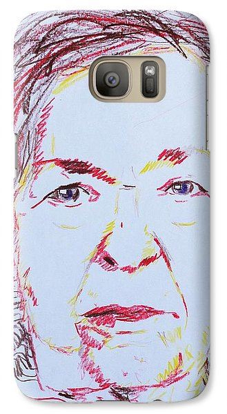 Galaxy Case featuring the drawing Roberta's Portrait by PainterArtist FINs husband Maestro